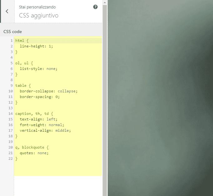 4. Miglioramenti nel CSS personalizzato